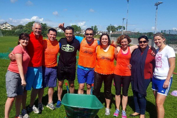 group of staff from Galway Community College enjoying Fun Reward Activities